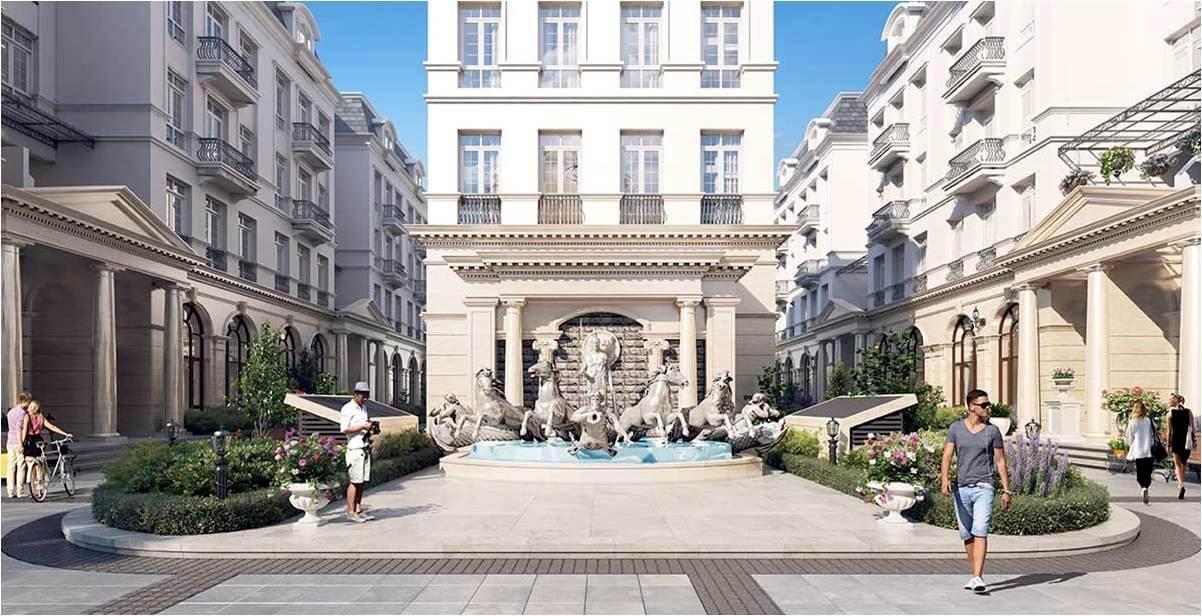 Phối cảnh kiến trúc khu biệt thự phong cách Châu Âu của grandeur palace