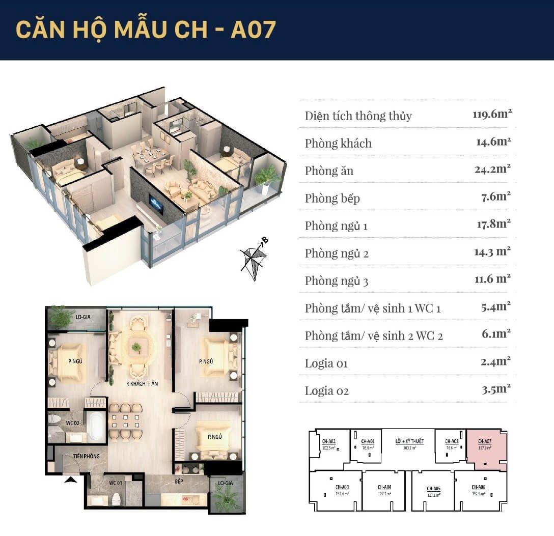 căn hộ mẫu CH-A07