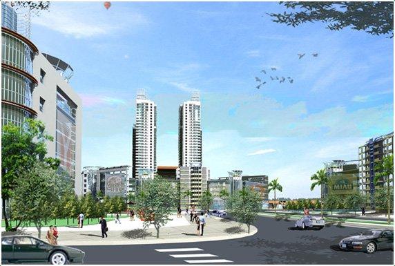 Phối cảnh dự án Green Square