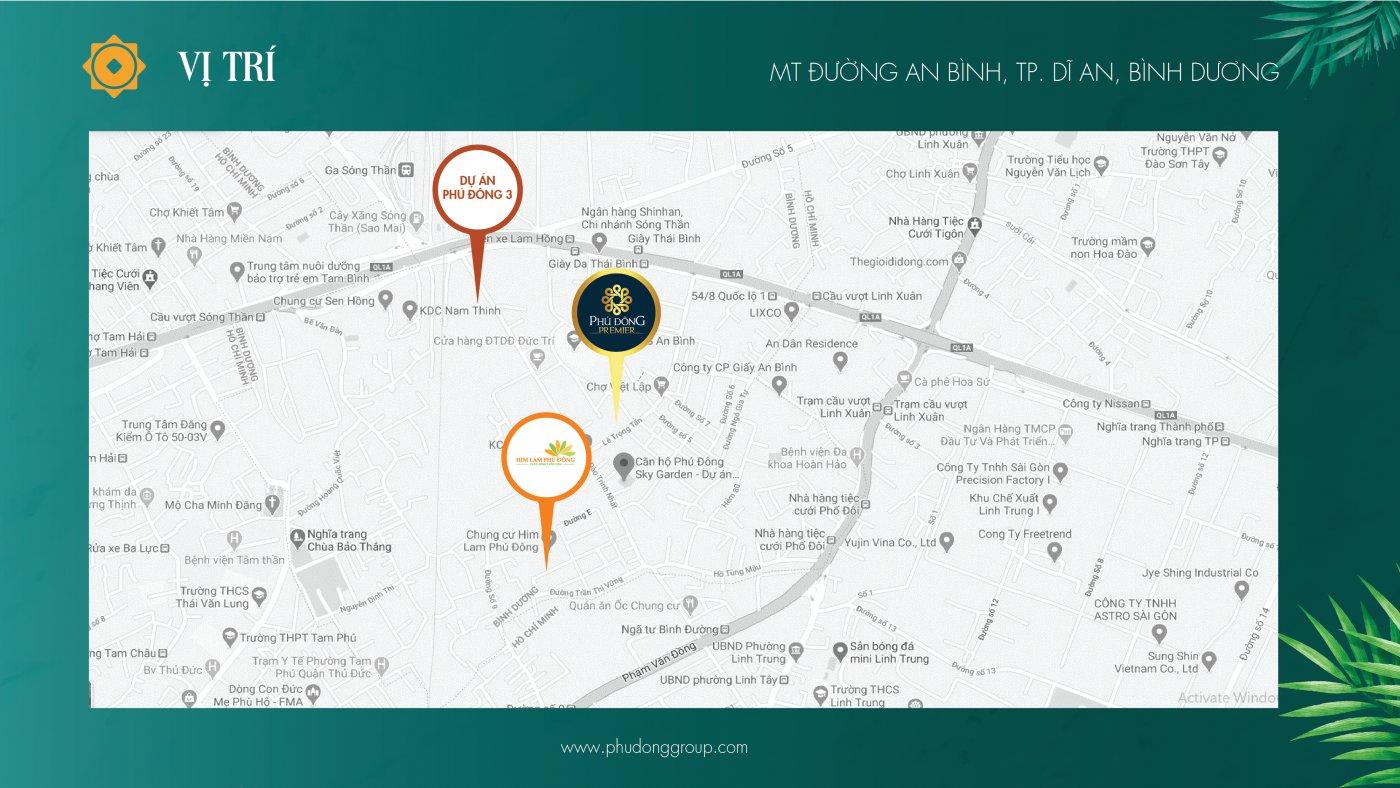 vị trí dự án Phú Đông Sky Garden trên bản đồ