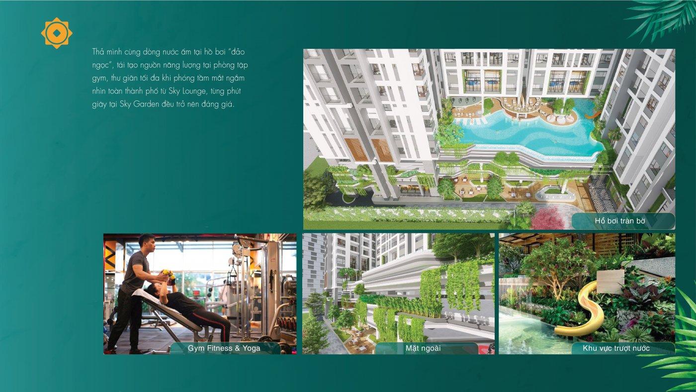 Hệ thống tiện ích nội khu tại Phú Đông Sky Garden