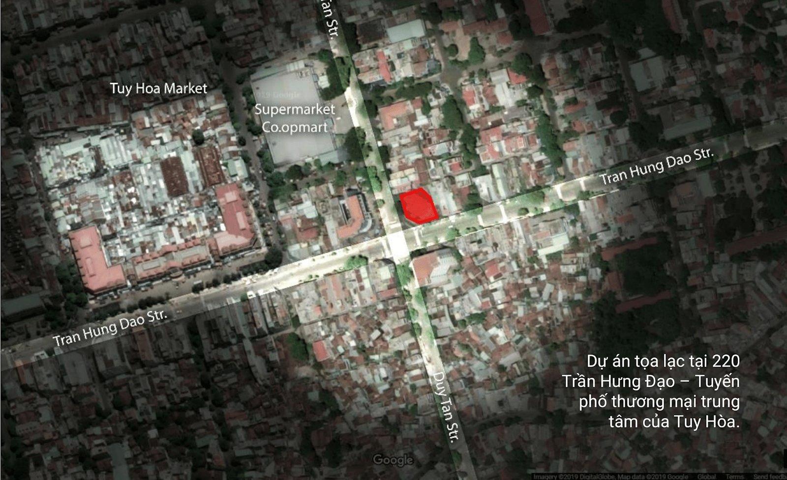 Vị trí trên bản đồ vệ tinh
