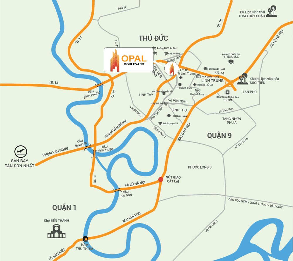 Vị trí Opal Boulevard trên bản đồ