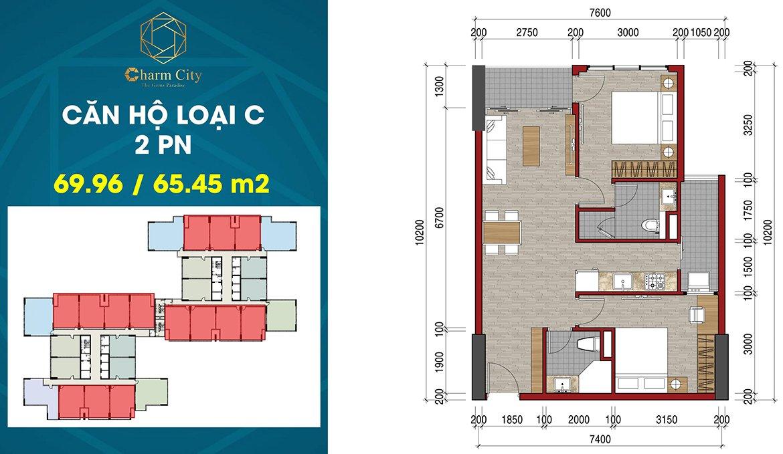 Charm City Bình Dương căn hộ loại C
