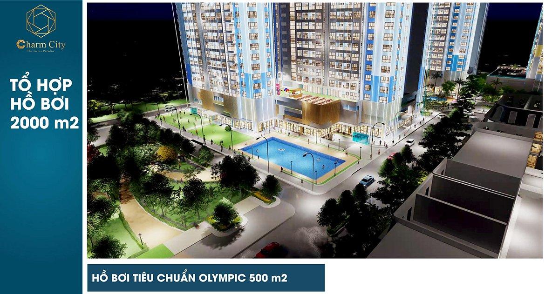 Charm City hồ bơi tiêu chuẩn Olympic