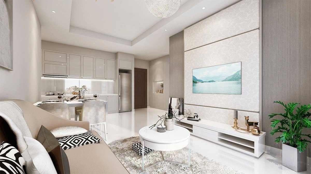 Phòng khách căn hộ Rivanna Bình Dương