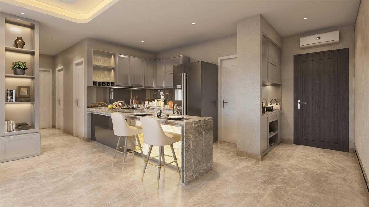 Phòng bếp căn hộ Rivanna Bình Dương