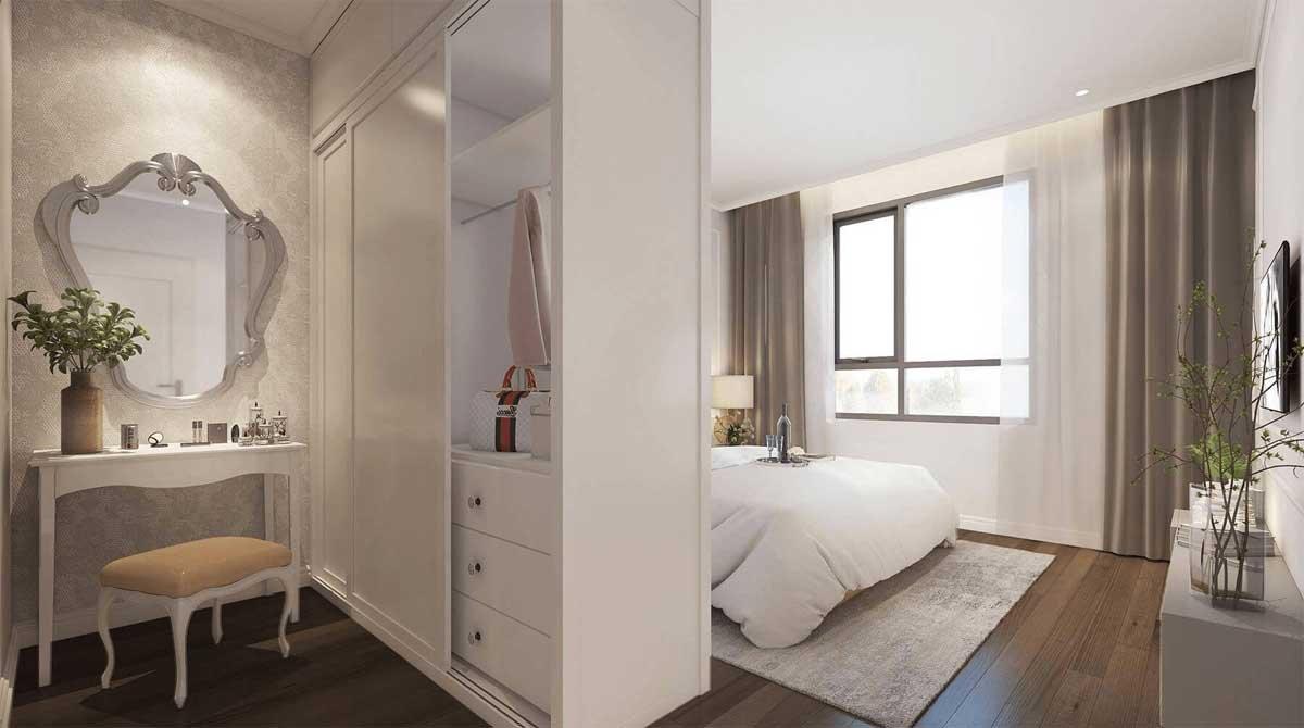Phòng ngủ lớn căn hộ Rivanna Bình Dương