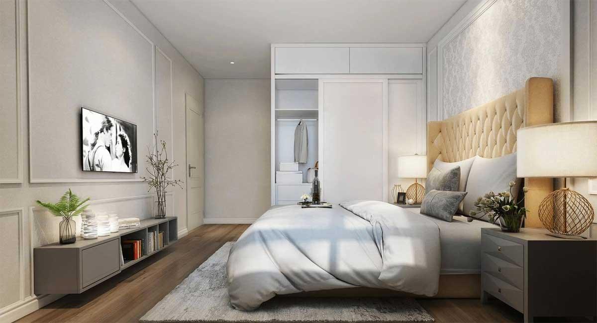 Phòng ngủ nhỏ căn hộ Rivanna Bình Dương